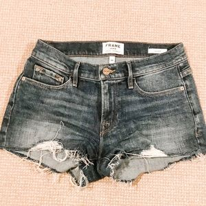 "FRAME denim shorts ""le cutoff"" size 24"